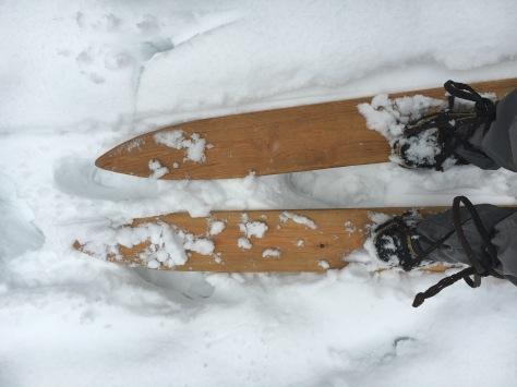 Silent old-time ski